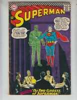 """Superman 186 Very Good Plus (4.5) 5/66 """"The Two Ghosts of Superman!"""""""