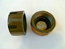 HEIAN CNC ROUTER, JOB LOT OF 2  ROUND SPINDLE NUTS FOR ERICKSON 100TG COLLET