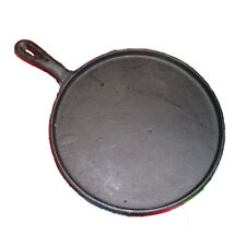 Heavy Duty Tortilla Cast Iron Griddle Round Skillet Comal Flat Pan 10 Inches