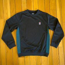 STUSSY x PATTA Warm Up Track Crew Neck Long Sleeve Pullover Sweatshirt Black L