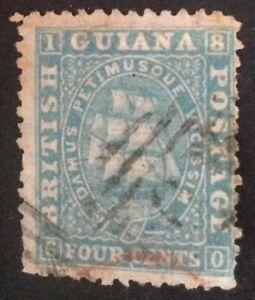 British Guiana 1862-65 4 cent blue stamp vfu