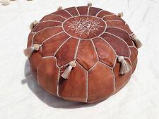 MOROCCAN POUF Leather pouf Ottoman Pouffe Footstool Pouf