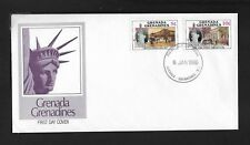 GRENADA GRENADINES 1986 FIRST DAY COVER STATUE OF LIBERTY ARCHITECTURE