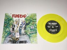 """The Undead Bobby Steele Signed 7"""" Vinyl Record I Made A Monster Misfits + Photo"""