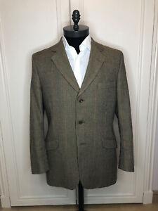 Stunning Hackett Vintage Bespoke Houndstooth Tweed Jacket Worn Twice RRP £700