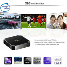 X96 4K 3D WIFI Smart Android 7.1 TV Box 2GB 16GB S905W Quad Core Media player EU