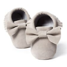 Romirus Baby Soft Tassel Girls Bow Moccs Soft Sole Infants Girl Shoes Tasse R2k9