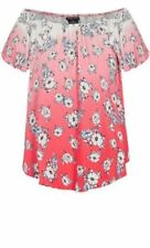 CITY CHIC S 16 NWT RRP $59 US TOP FLORAL OMBRE LOLLY.