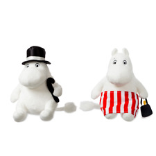 """Aurora Moomin The Moomins 8"""" Plush Mamma And Pappa Cuddly Soft Toy Kids Teddy"""