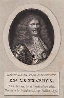 Henri de La Tour d'Auvergne Vicomte de Turenne Sedan Ardennes Adèle Ethiou 1824