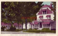 1947 INGLE LODGE COTTAGE COURT F L Cotton, Prop. Route 9 LAKE GEORGE, N. Y.
