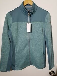 1 NWT STRAIGHT DOWN WOMEN'S JACKET, SIZE: SMALL, COLOR: TEAL HEATHER (J110)