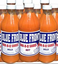 Blue Front BBQ Barbecue Sauce 6 COMBO PACK (3-HOT, 3-MILD) 16oz. bottles