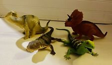 Dinosaur Figures Lot Of 4 Apatosaurus, Triceratops