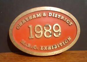 1989 Metal Model Railway Club Exhibition Plaque - Chatham & District Kent UK