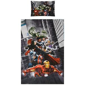 Marvel Avengers Assemble Single Bedding Set Reversible Duvet Cover 100% Cotton