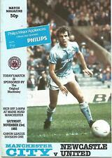 Football Programme - Manchester City v Newcastle United - Div 1 - 23/11/1985