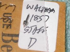 Vintage 18S Waltham Balance Staff 1857 Key Wind Variation D pocket watch