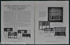 1917 EDISON PHONOGRAPH 2-page advertisement, Historic Cabinets, $6000 and down