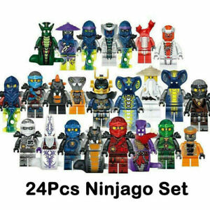 Set of 24Stk Ninjago Mini Figures Kai Jay Sensei Wu Master Building Blocks Toy