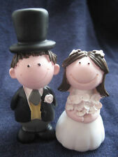 BRIDE & GROOM Wedding Cake topper DECORATION *BRUNETTE*