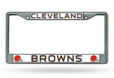 Cleveland Browns Chrome Metal License Plate Frame