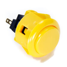 Sanwa OBSF-24mm Snap-in Button-YELLOW-OEM