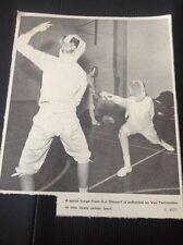 71-2 Ephemera 1969 Picture Thanet Fencers A J Stewart Van Terheyden