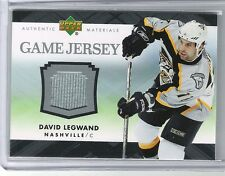 07-08 2007-08 UPPER DECK DAVID LEGWAND UD GAME JERSEY J-DL PREDATORS