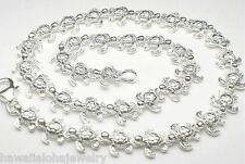 """Textured Honu Sea Turtle Anklet 10"""" 7mm Hawaiian Solid Sterling Silver Cutout"""