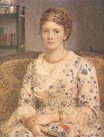 Oil painting Edward John Poynter - Young woman portrait sitting on sofa canvas