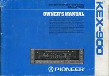 PIONEER Ownwer's Manual Component Car Stereo Centrate Series,kex,kpx,Dex,Cdx