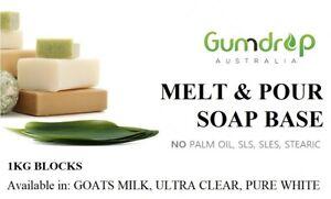 Goats Milk Melt & Pour Soap Base ~ Palm Free, No SLS / SLES & Low Sweat ~ 1KG