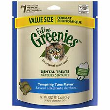 Feline Greenies Dental Treats   Tempting Tuna 5.5oz - Pack of 4