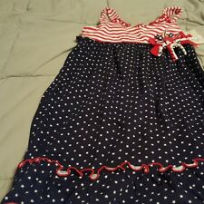 Sofia Rose dress size 6 red white and blue  NWT stripes stars bows
