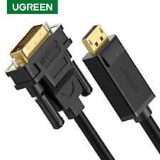 Ugreen DP DisplayPort to DVI-D 24+1 Video Cable Adapter 1080P Full HD Fr Monitor