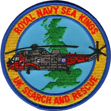 Royal Navy RN FAA Search And Rescue SAR Sea Kings MOD Embroidered Patch