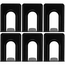 Bookend Bookends Supports Metal Ends Universal Economy Non-Skid Heavy Duty Pack