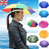 Foldable Sun Rain Umbrella Hat Outdoor Headwear Cap Brolly Novelty Head Hat 55cm