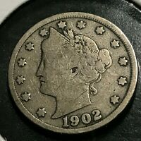 1902 LIBERTY NICKEL PARTIAL LIBERTY COIN