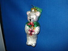 Old World Christmas Teddy Bear with Doll White Ornament 12006W 37 13