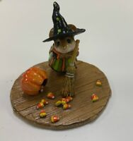 Wee Forest Folk CANDY CORN CATASTROPHE, WFF# M-185b, LTD 2006 Witch Mouse