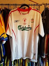 Liverpool Football Shirt 2005/06 Away Champions League ~ Gerrard 8 Large