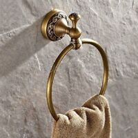 Antique Brass Wall Mounted Towel Ring Bathroom Hardware Bath Accessories Fba489