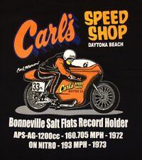 Carl's Speed Shop Harley Davidson Performance Center Daytona Beach FL T-shirt XL