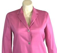 NEW Large Pink Rose Jacket Jones New York Signature Silver Snap Pocket Blazer