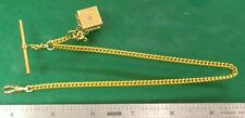 T-Bar Pocket Watch Chain Fob Gold Filled #17 - Watchmaker Replacement