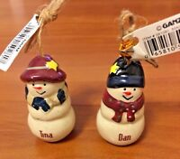Hallmark Ganz Ceramic Snowman Personalized Ornament Names Beginning with S