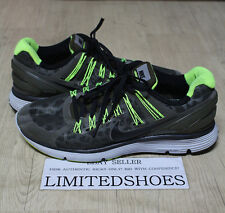 NIKE LUNARECLIPSE 3 SHIELD GREY VOLT 615990-307 US 11 LUNARTRAINER orange red