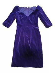 Vintage 70\u2019s Dress Black Faux Velvet Velour Housedress by Vanity Fair Size 8 Womens Small Medium